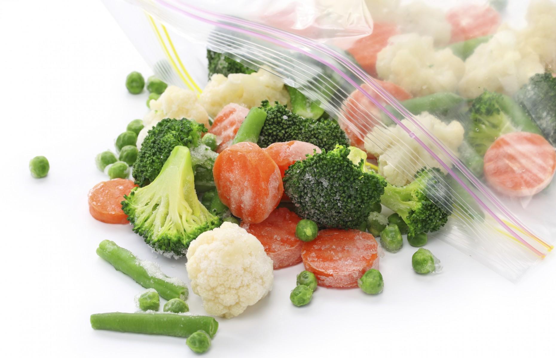 Congelar vegetais e excelente para a saúde e evita despedício de alimentos